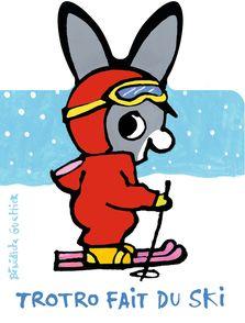 Trotro fait du ski - Bénédicte Guettier