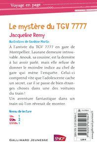Le mystère du TGV 7777 - Sandrine Martin, Jacqueline Rémy