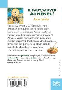 Il faut sauver Athènes! - Alice Leader, François Place