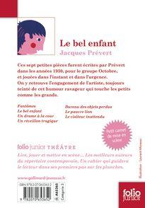 Le bel enfant - Jacques Prévert