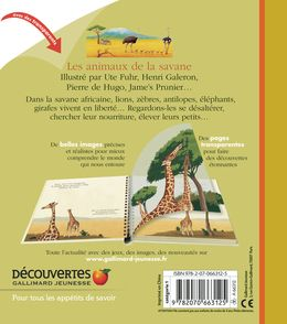 Les animaux de la savane - Delphine Badreddine,  un collectif d'illustrateurs