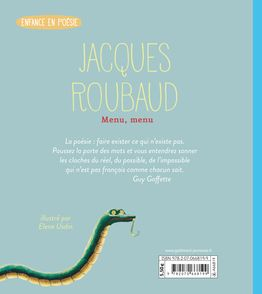 Menu, menu - Jacques Roubaud, Elene Usdin