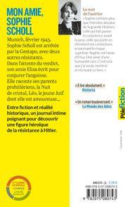 Mon amie, Sophie Scholl - Paule Du Bouchet