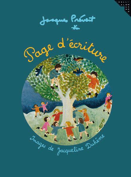 Page d'écriture - Jacqueline Duhême, Jacques Prévert