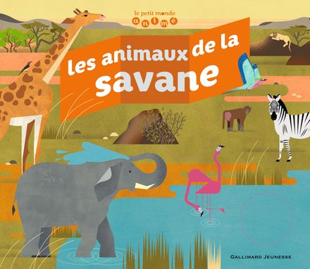 Les animaux de la savane - Emmanuelle Kecir-Lepetit, Marta Orzel