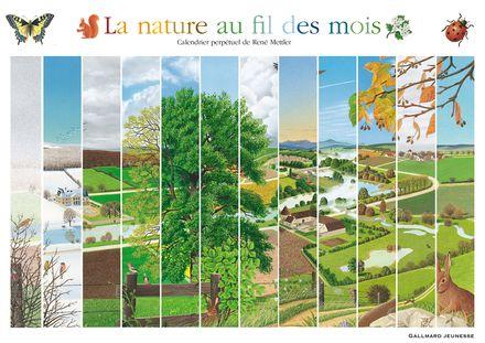 La nature au fil des mois - René Mettler