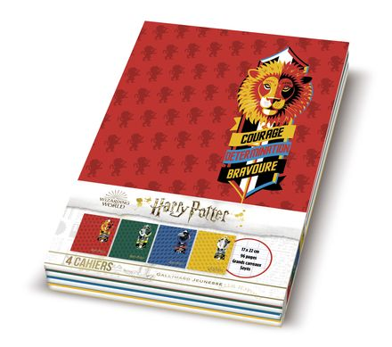 Lot de 4 cahiers Harry Potter -