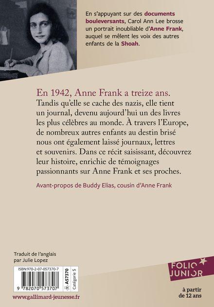 Anne Frank et les enfants de la Shoah - Carol Ann Lee