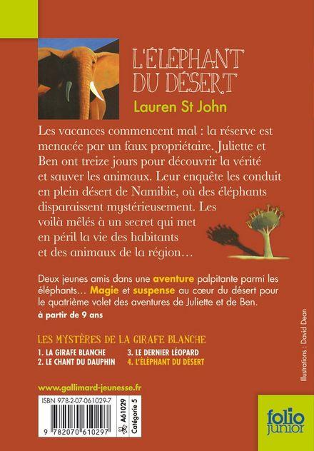 L'éléphant du désert - David Dean, Lauren St John