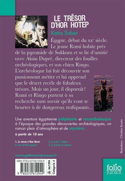 Le trésor d'Hor Hotep - Philippe Biard, Katia Sabet