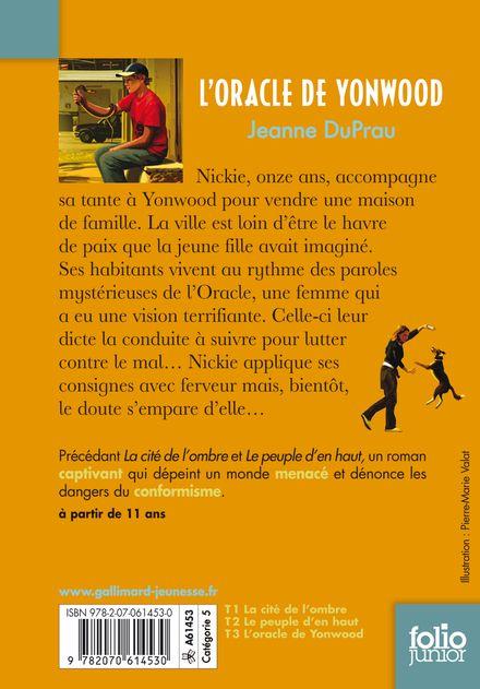 L'oracle de Yonwood - Jeanne DuPrau