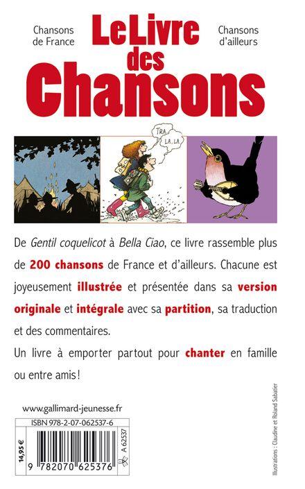 Le livre des chansons - Claudine et Roland Sabatier