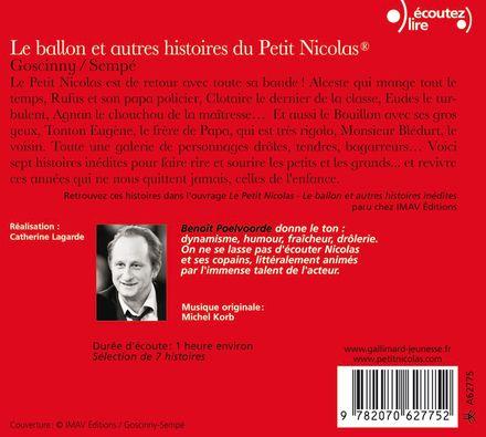 Le ballon et autres histoires du Petit Nicolas - René Goscinny,  Sempé