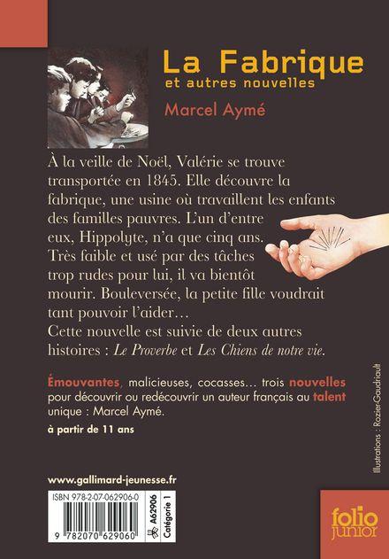 La Fabrique et autres nouvelles - Marcel Aymé