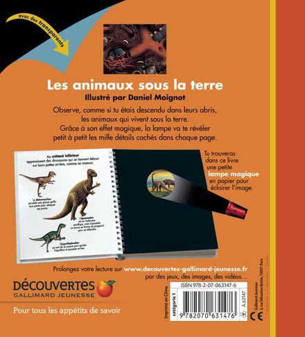 Les animaux sous la terre - Claude Delafosse, Daniel Moignot
