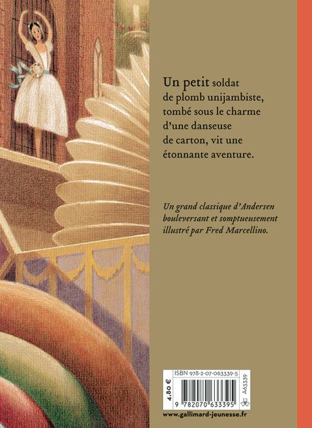 Le petit soldat de plomb - Hans Christian Andersen, Fred Marcellino