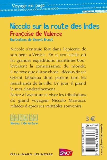 Niccolo sur la route des Indes - Vincent Brunot, Françoise de Valence