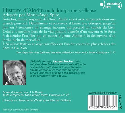 Histoire d'Aladin ou La lampe merveilleuse -  Anonymes