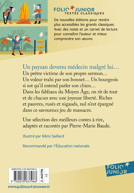 Fabliaux du Moyen Âge - Pierre-Marie Beaude, Rémi Saillard