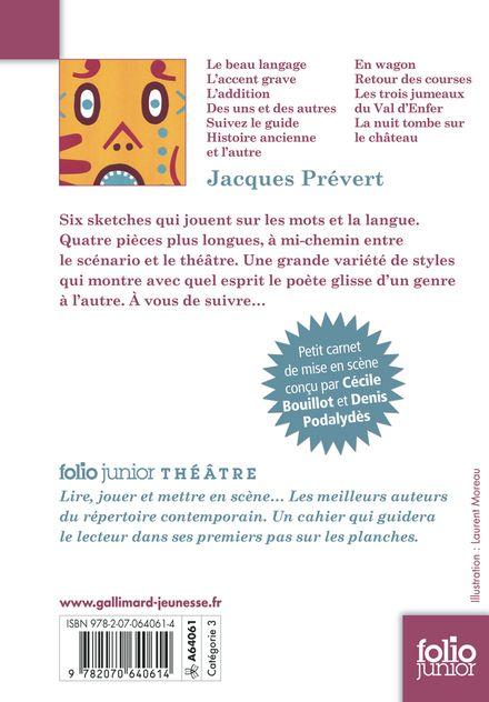 Le beau langage - Jacques Prévert