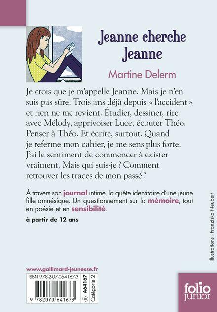 Jeanne cherche Jeanne - Martine Delerm