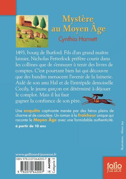 Mystère au Moyen Âge -  l'auteur, Cynthia Harnett