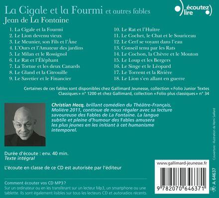 La Cigale et la Fourmi et autres fables - Jean de La Fontaine