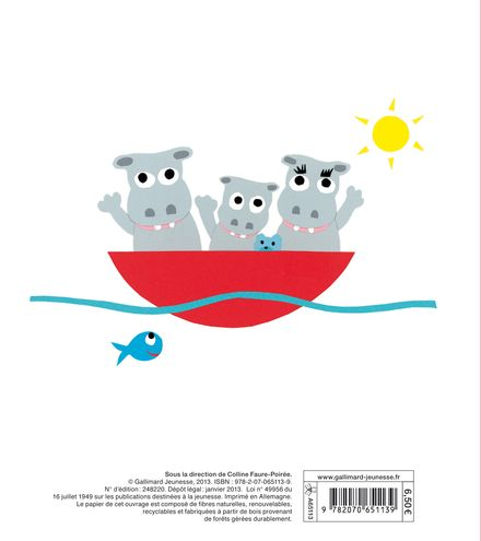 Jojo l'hippopo sur son bateau - Pierrick Bisinski