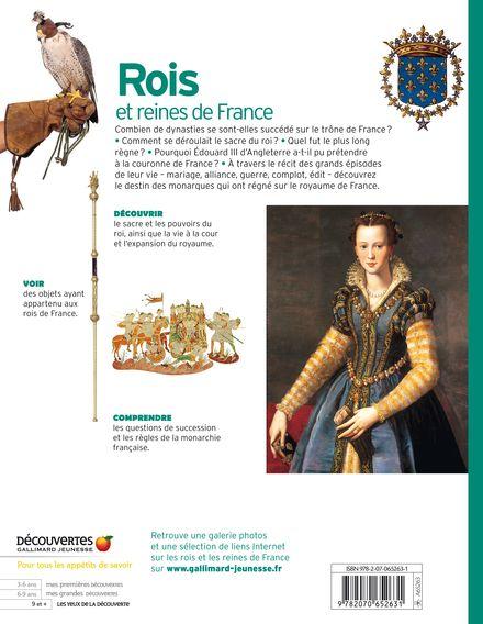 Rois et reines de France - Jean-Michel Billioud