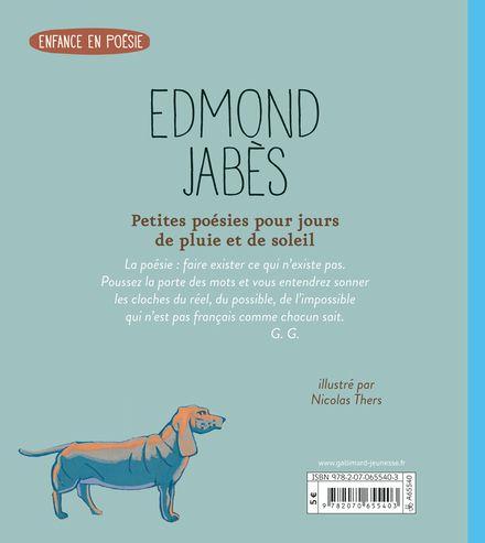 Petites poésies pour jours de pluie et de soleil - Edmond Jabès, Nicolas Thers