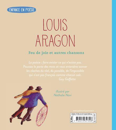 Feu de joie et autres chansons - Louis Aragon, Nathalie Novi