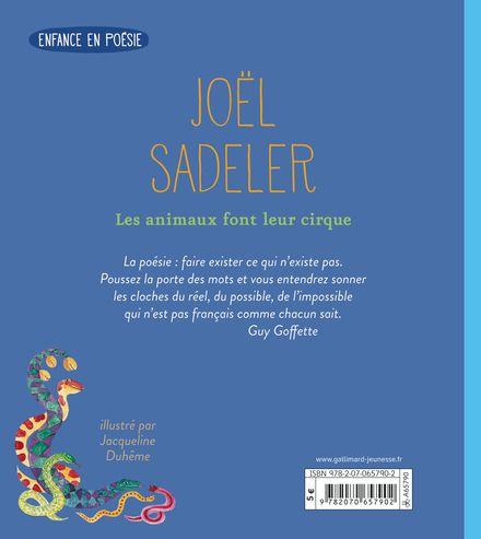 Les animaux font leur cirque - Jacqueline Duhême, Joël Sadeler