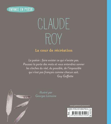 La cour de récréation - Georges Lemoine, Claude Roy