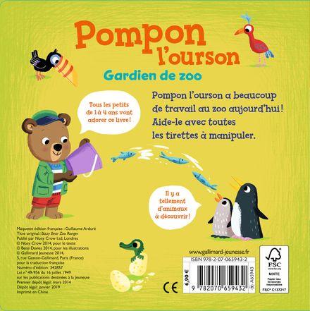 Pompon l'ourson : Gardien de zoo - Benji Davies