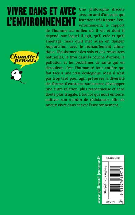 Vivre dans et avec l'environnement - Marie Gaille, Donatien Mary
