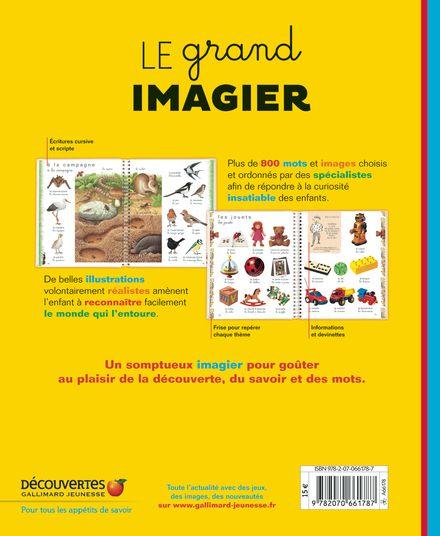 Le grand imagier -  un collectif d'illustrateurs