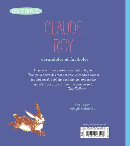 Farandoles et fariboles - Claude Roy, Adolf Zabransky