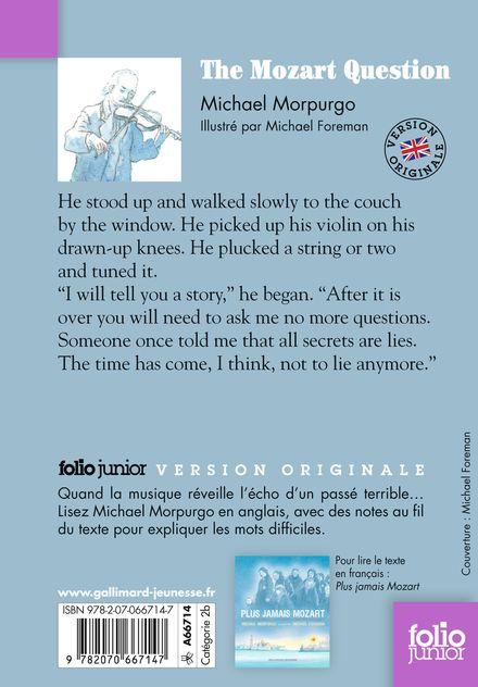The Mozart Question - Michael Foreman, Michael Morpurgo