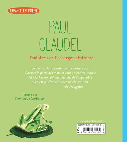 Dodoitzu et l'escargot alpiniste - Paul Claudel, Dominique Corbasson