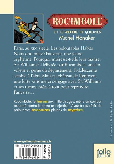 Livre Rocambole Et Le Spectre De Kerloven Gallimard Jeunesse