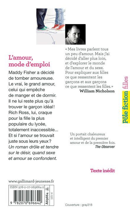 L'amour mode d'emploi - William Nicholson
