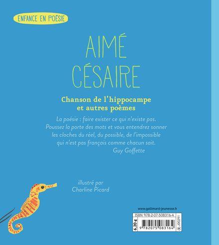 Chanson de l'hippocampe et autres poèmes - Aimé Césaire, Charline Picard