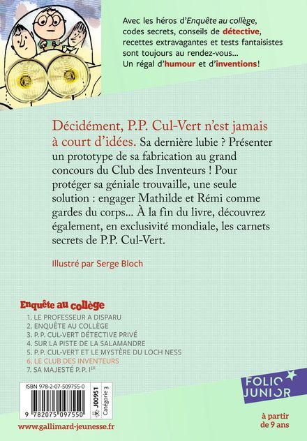 Le club des inventeurs - Jean-Philippe Arrou-Vignod, Serge Bloch