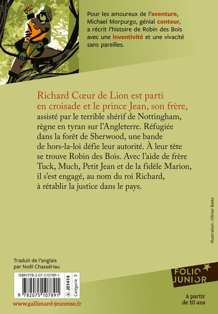 Robin des Bois - Jean-Philippe Chabot, Michael Morpurgo