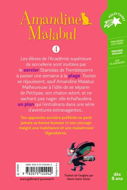 Amandine Malabul, la sorcière a peur de l'eau - Jill Murphy