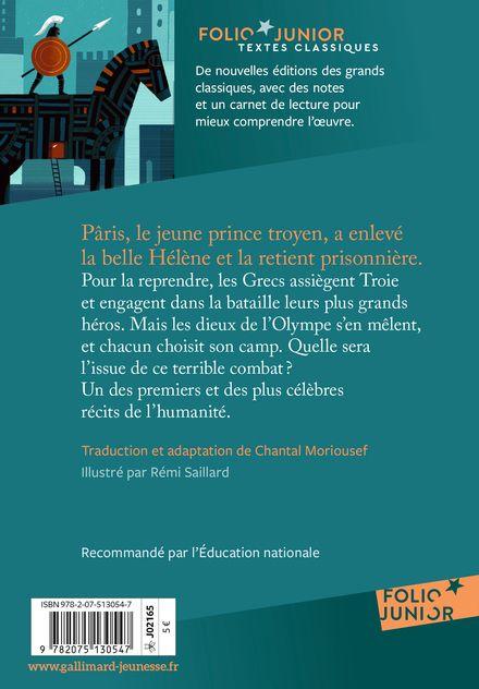 L'Iliade -  Homère, Rémi Saillard