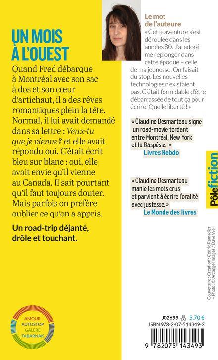 Un mois à l'ouest - Claudine Desmarteau