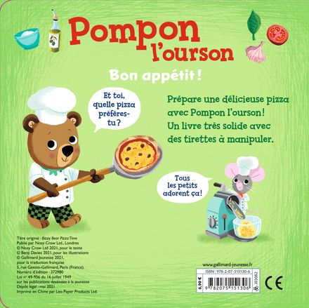 Pompon l'ourson : Bon appétit ! - Benji Davies