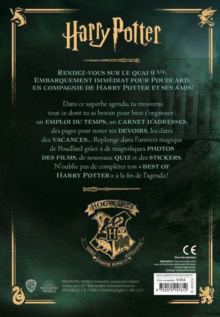 Agenda Harry Potter 2021-2022 -