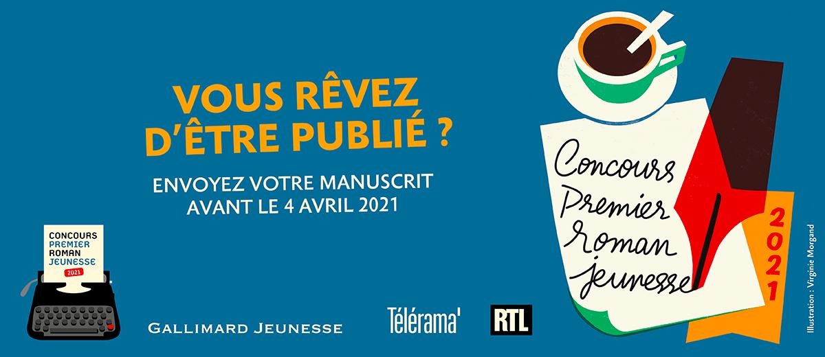 4ème édition du concours premier roman jeunesse chez Gallimard  Banniere_concours